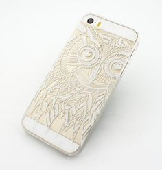 """Clear Plastic Case Cover for iPhone 6 (4.7"""") Henna Ethnic Owl mystic eyes tribal dream catcher mayan aztec american indian"""