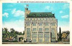 Atlantic City New Jersey NJ 1924 New Atlantic Elks Lodge Vintage Postc – Moodys Vintage Postcards
