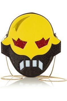 Stella McCartney – Superhero snake-effect faux leather shoulder bag