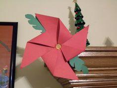 christmas crafts point settia | Poinsettia Pinwheel Craft~ Fun Christmas Craft Idea For Kids - The Kid ...