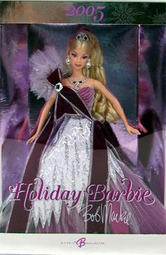 2005 Holiday Barbie designed by Bob Mackie (17th Holiday Barbie doll)