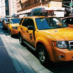 Cabs in NYC #newyorkcityinspired