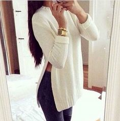 Item Type: Tops Material:Cotton Collar:Round Neck Sleeve Length:Long Sleeve Color:White,Grey Size:S,M,L                                                                                                                                                                                 More