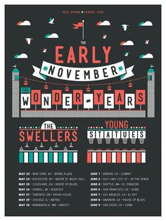 Probably my fav show ever. The Early November, The Wonder Years, The Swellers, and Young Statues.