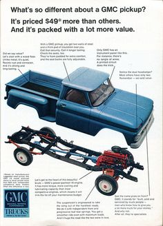 1966 GMC Pickup Truck Advertisement Readers Digest January 1966 by SenseiAlan via Flickr