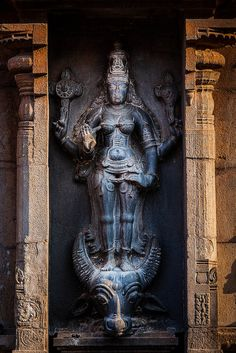 Lakshmi image. Brihadishwara Temple, Tanjore by Dmitry Rukhlenko Travel Photography, via Flickr