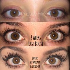 This is my good friends lashes!!! Using LASH BOOST by RODAN+FIELDS! In just 8 weeks made her lashes longer, darker and fuller looking Apply nightly, 4 weeks to woah- 8 weeks to WOW!   Contact me- I'll sign you up and get a cheaper price too!  https://abbykrueger.myrandf.biz/Shop/Enhancements