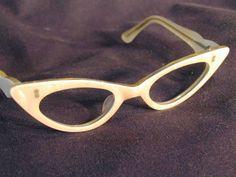 Vintage 60s France Cat Eye Glass Frame