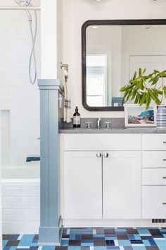 Gray Malins Custom Grange Bathroom Floor by Kate… | Fireclay Tile