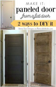 5 Panel Door From A Flat Hollow Core Door (Remodelaholic)