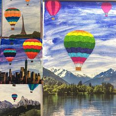 Our latest work: hot air balloons over mountains, New York or Paris. # pride …… – Petra Kůsová Our latest work: hot air balloons over mountains, New York or Paris. # pride …… Our latest work: hot air balloons over mountains, New York or Paris. Value Painting, Q Tip Painting, Bergen, Tracing Art, African Sunset, Pop Art Movement, Middle School Art, Abstract Portrait, Elements Of Art