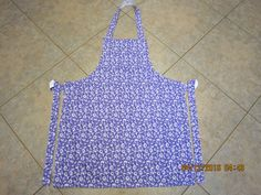 Sunshine Floral {Purple} Cotton (white backing-no pockets) - Adult Sized Apron by ShawnasSpecialties on Etsy
