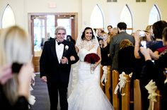 Father of the Bride and Bride processional photo {Matthew Sowa Photography}
