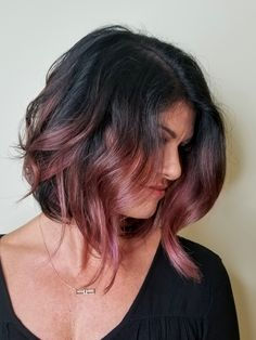 Chocolate mauve by Sheila at Monroeville How To Bayalage Hair, Balayage Hair, Rose Gold Bayalage, Hair Color And Cut, Cool Hair Color, Best Brunette Hair Color, Rose Gold Hair Brunette, Haircut And Color, Hair Colour