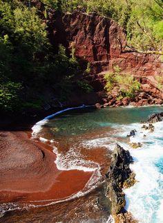 Kaihalulu Red Sand Beach – Hana, Hawaii