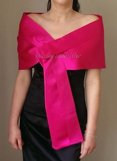 Beautiful pink satin pull through satin shawl, perfect for special occasions! It can be secured in place by pulling one of the shawl through the hidden hole at the front of the shawl. This shawl is perfect to finish off that outfit for a special occasion. Modern Filipiniana Dress, Long Formal Gowns, Midi Cocktail Dress, Mom Dress, How To Wear Scarves, Colourful Outfits, Royal Fashion, Pink Satin, Blouse Styles