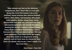 This is my favorite passage from Gone girl novel.