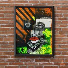 E Y E    R E M E M B E R 18 X 14  — mixed media My Works, Mixed Media, Mixed Media Art, Mix Media