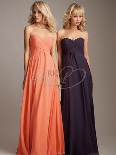 Allure Bridesmaids Spring 2012 - Style 1221 - Chiffon bridesmaid dress with empire waist and sweetheart neckline. $176  http://www.rkbridal.com/bridesmaids-collections/allure-bridesmaids/allure-bridesmaids-1281-20780.html