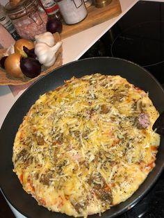 Tupun tupa: Nopea pannupizza Quiche, Pizza, Breakfast, Food, Breakfast Cafe, Essen, Quiches, Yemek, Custard Tart