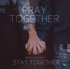 Pray together, stay together.