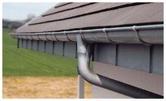 pre-weathered zinc 1/2 round gutter