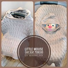 Little Mouse Carseat Poncho Knitting PATTERN – WarmLinX