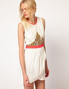 Sass And Bide Layer Of Love Dress With Embellished Panel