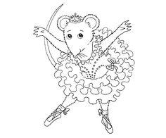 6 angelina ballerina coloring page