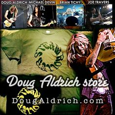 Doug Aldrich com merch section (September 2012)