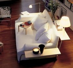 Fancy - Lazy Working Sofa by Phillippe Starck | Love the plush look of this couch. Fabric is the way to go!