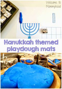 Hanukkah Playdough Mat Printable (free; from Welcome to Mommyhood)