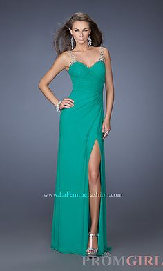 Full Length Sweetheart Formal Gown at PromGirl.com