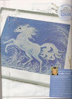 """1/5 """"Legend of the Unicorn"""" cross stitch pattern"""
