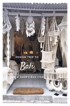 Our sourcing trip to Bali Boho Living Room, Living Room Decor, Bali Decor, Bali Shopping, Craft Booth Displays, Macrame Wall Hanging Patterns, Macrame Design, Boho Diy, Room Accessories
