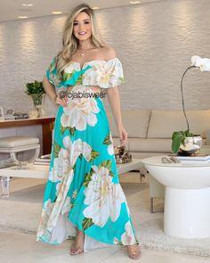Elegant Maxi Dress, Simple Dresses, Nice Dresses, Casual Dresses, Floral Fashion, Boho Fashion, Fashion Dresses, Womens Fashion, Vestidos Farm
