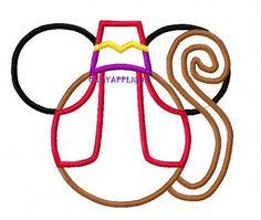 Alladin Abu Mickey ears Embroidered Shirt by BibbidiBobbidiShop
