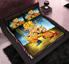 dragon ball queen size, Dragon ball Z bedroom set, Dragon ball Z birthday gift, Dragon ball Z blanket, Dragon ball Z Christmas gift, Dragon ball Z fleece blanket, Dragon ball Z pillow case, #goku #DragonBallZ #dragonball