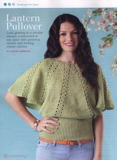 Crochetemoda: Blusa Verde de Crochet