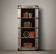 Richards Metal Tower | Mixed Material Shelving & Cabinets | Restoration Hardware