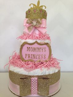 Mommy's Little Princess Diaper Cake Princess by AllDiaperCakes