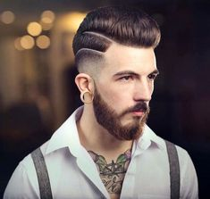 coupe hipster homme coiffure rockabilly dégradé barbe