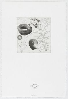 """José Antonio Suárez Londoño - etching Untitled #241. 2007     plate: 4 1/8 x 3 7/8"""" (10.4 x 9.9 cm); sheet: 11 x 7 1/2"""" (27.9 x 19 cm"""