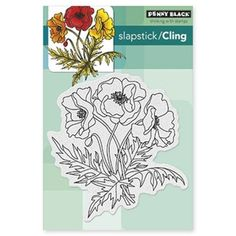 Penny Black Cling Stamp POPPY TRIO Rubber Unmounted 40-311