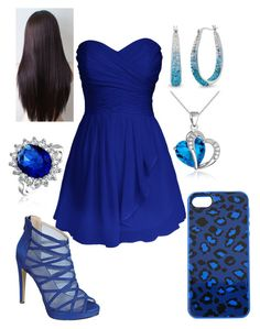 """Dark Blue"" by briony-jae ❤ liked on Polyvore"