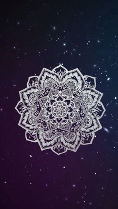 iPhone Wallpaper - Galaxy Background and White Mandala🌸 Geometric Wallpaper Iphone, Sf Wallpaper, Cute Tumblr Wallpaper, Phone Wallpapers Tumblr, Tumblr Backgrounds, Cute Wallpaper For Phone, Cute Wallpapers, Mandala Wallpapers, Pretty Backgrounds
