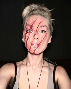 Scary Claw Marks Makeup for Halloween