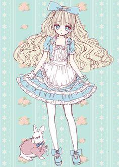 Anime Alice In Wonderland.