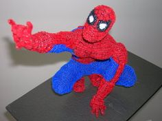 Pipe Cleaner Spidey by fuzzymutt ||| Spiderman, Marvel, comic, super, hero, doll, toy, sculpture