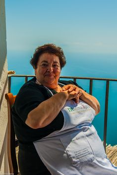 Mamma Agata in Ravello, Italy.  I did not do her cooking classes but had dinner prepared for us and served on her balcony.  One of my favorite travel memories EVER!